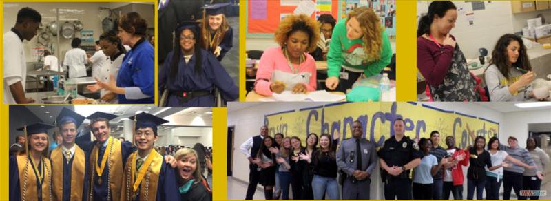 Collage of students participating in various school related activities