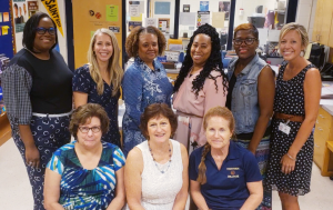 Top row: Ms. Millicent Lee, Ms. Amy Legg, Ms. Tammy Strek (Director), Ms. Kate Lennon, Ms. Anita Vega, Ms. Dianna Ransom. Bottom Row: Ms. Beth Somers, Ms. Eve Bell, Ms. Anna VanLaethem