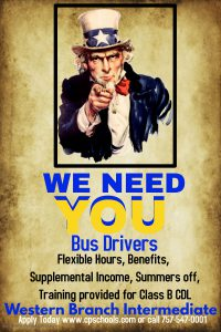 We need YOU. Bus Drivers!