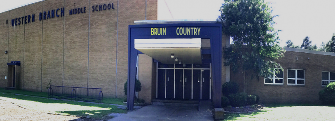 Picture of Western Branch Middle School's front doors