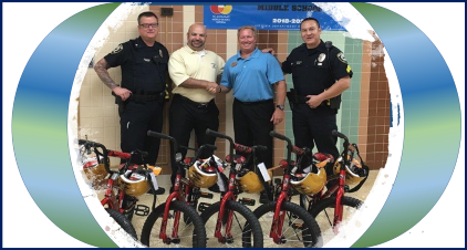 Thank you for Sean Hess with Chick fil-A, as well as the Chesapeake Police Department, for donating bicycles to WBM. We appreciate their generosity and look forward to sharing these items with our students in the upcoming year.