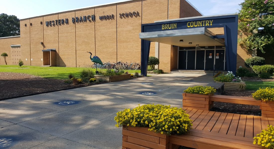 WBMS Picture of New Front with Blue Heron