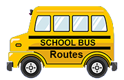 School buss with the words school bus routes