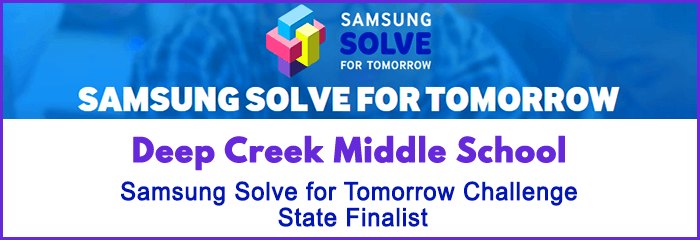 Deep Creek Middle School - Samsung Solve for Tomorrow Challenge State Finalist - samsung solve for tomorrow - puzzle icon