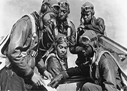 Tuskegee Airmen of World War II in uniform