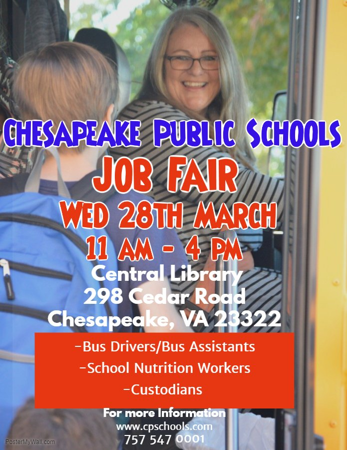 Chesapeake Public Schools Job Fair @ Central Library