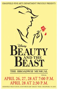 Grassfield Fine Arts Department Presents Beauty and the Beast @ Grassfield High School Auditorium