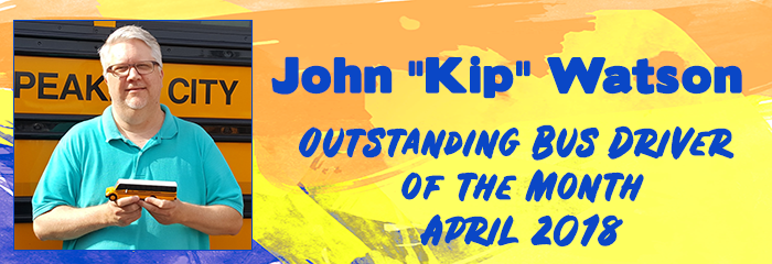 Outstanding Bus Driver for month of April John Kip Watson