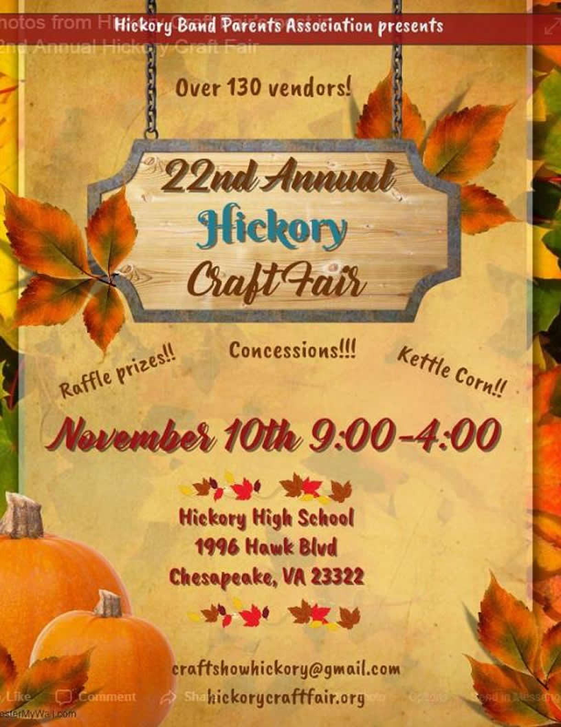 22nd Annual Hickory Craft Fair @ Hickory High School