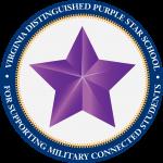 Virginia Distinguished Purple Star School Symbol