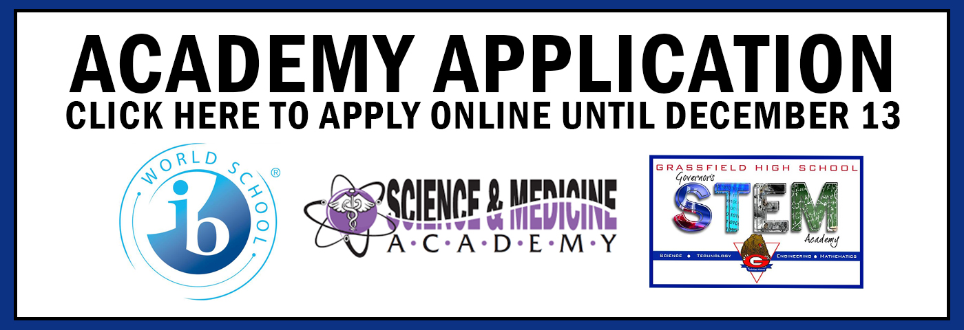 Academy Application. Click here to apply online until December 13.