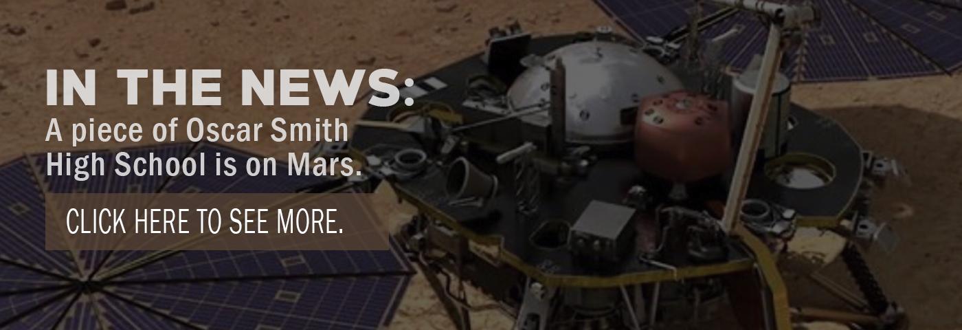 In the News: A piece of Oscar Smith High School is on Mars.
