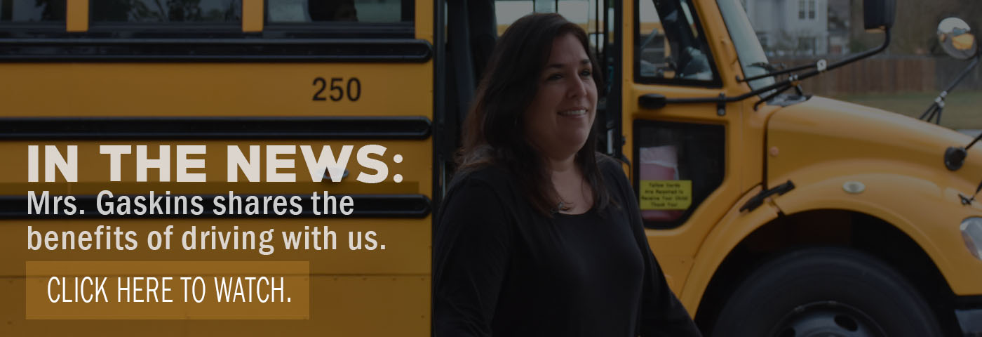 In the news: Mrs. Gaskins shares the benefits of driving with us. Click here to watch.