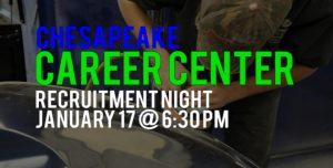 Chesapeake Career Center - Recruitment Night - January 17 at 6:30 pm