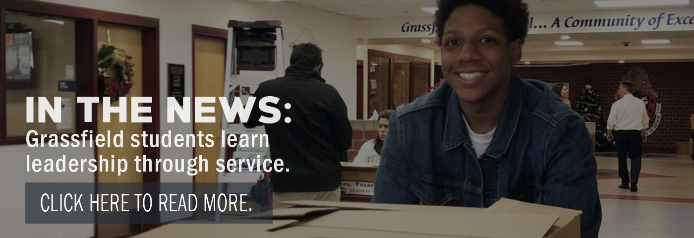 In the News: Grassfield students learn leadership through service. Click here to read more.