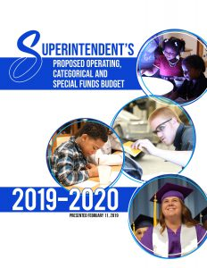 Superintendent's Proposed Operating, Categorical and Special Funds Budget. 2019-2020. Presented February 11, 2019.