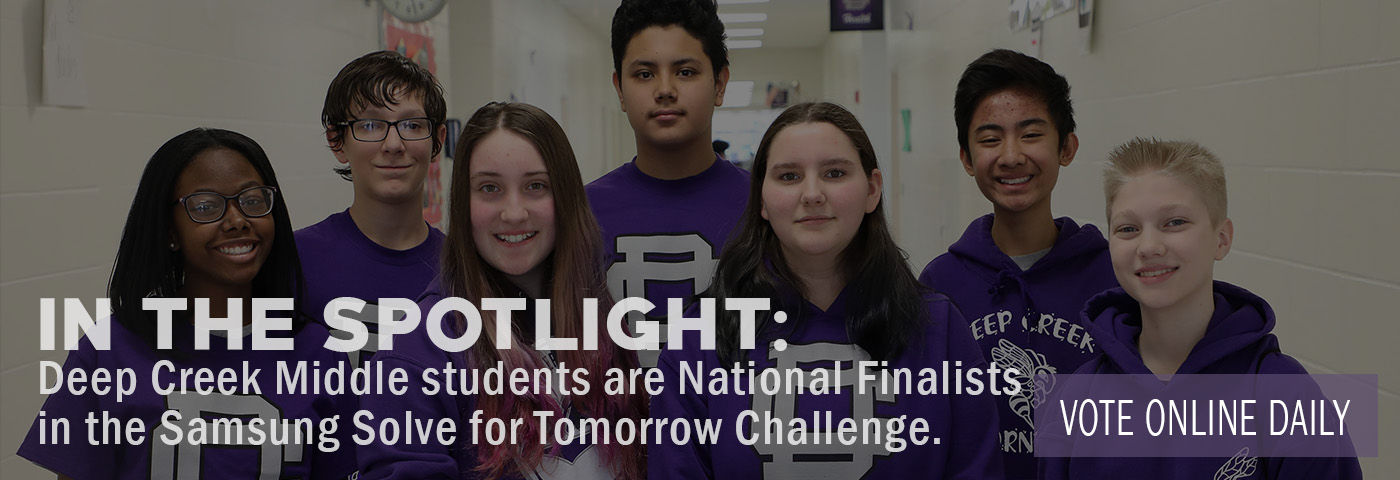 In the Spotlight: DCMS students are national finalists in Samsung Solve for Tomorrow Contest. Vote online daily.