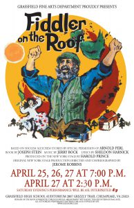 Grassfield High School's Fine Arts Department Presents Fiddler on the Roof @ Grassfield High School Auditorium