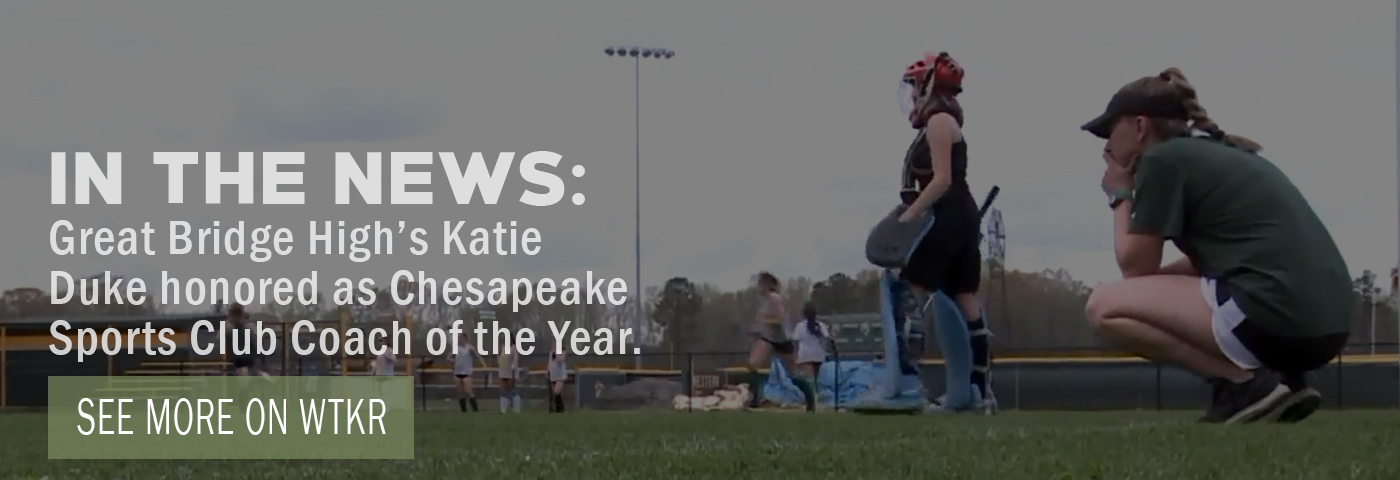 In the News: Great Bridge High's Katie Duke is Chesapeake Sports Club Coach of the Year. See more on WTKR.