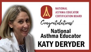 Congratulations National Asthma Educator - Katy DeRyder