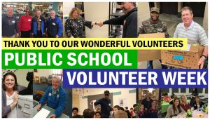 Thank you to our wonderful volunteers! Public School Volunteer Week