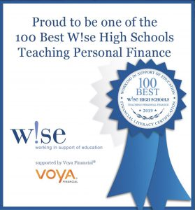Proud to be one of the 100 Best W!se High Schools Teaching Personal Finance.