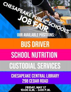 Chesapeake Public Schools Job Fair @ Chesapeake Central Library