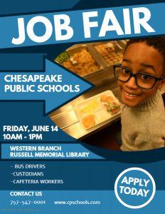 Chesapeake Public Schools Job Fair @ Russell Memorial Library