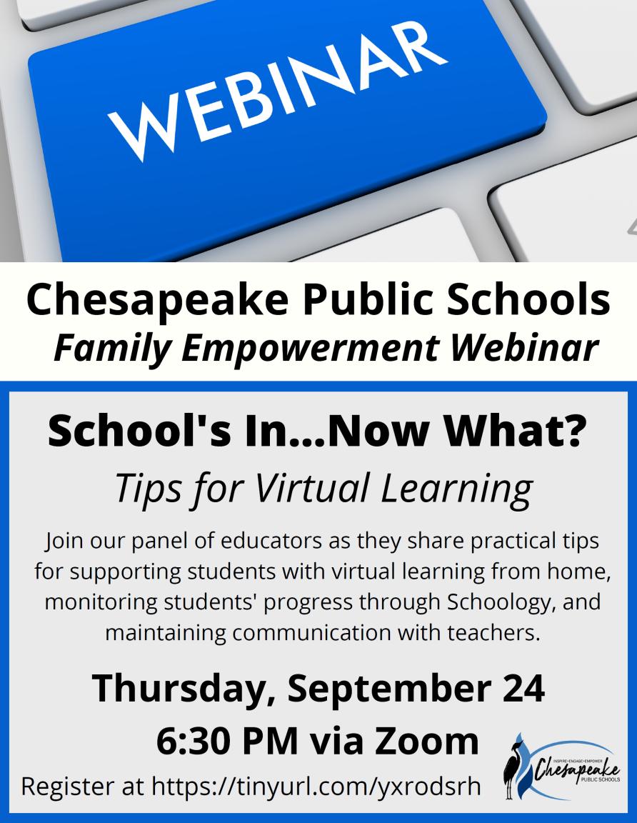 Family Empowerment Webinar: Tips for Virtual Learning @ Virtual Platform: Zoom