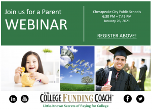 Webinar: Little-Known Secrets of Paying for College @ Zoom
