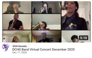 YouTube still: DCH Hornets Virtual Band Concert