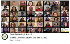 YouTube still: GBH Chorus sings Carol of the Bells