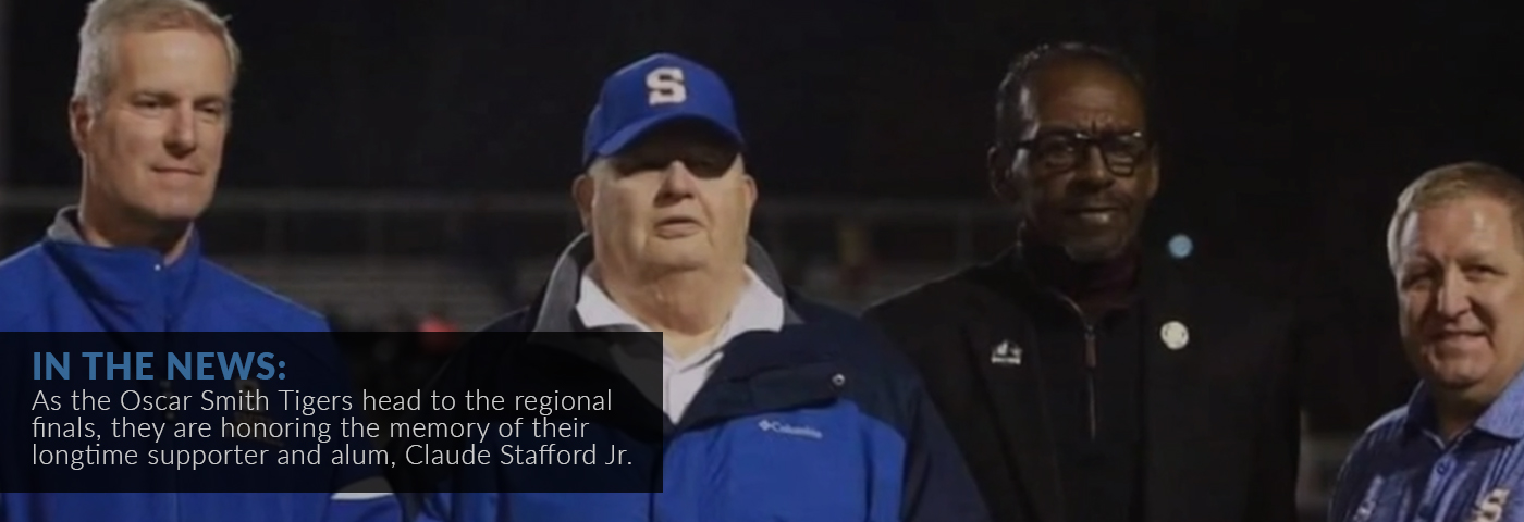 In the news: As the Oscar Smith Tigers head to the regional finals, they are honoring the memory of their longtime supporter and alum, Claude Stafford Jr.