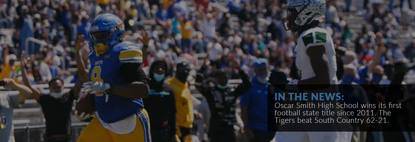 In the News: Oscar Smith High School wins its first football state title since 2011. The Tigers beat South Country 62-21.