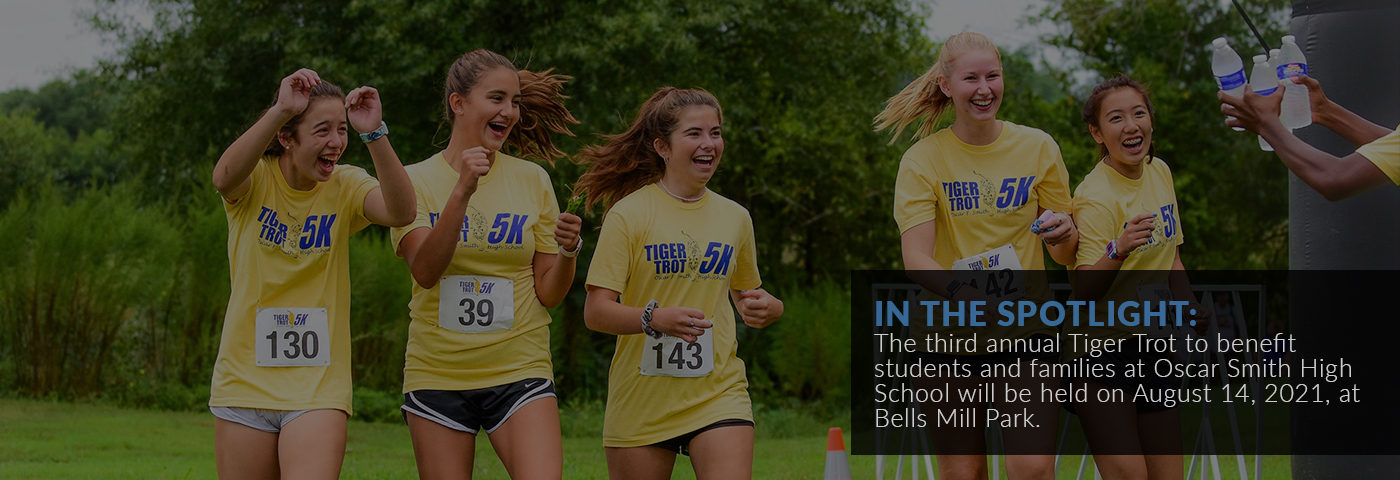 In the spotlight: The third annual Tiger Trot to benefit students and families at Oscar Smith High School will be held on August 14, 2021, at Bells Mill Park.