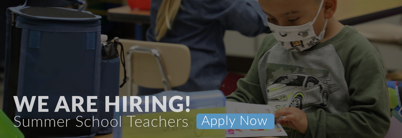 We're Hiring! Summer Teaching Positions - Apply Now