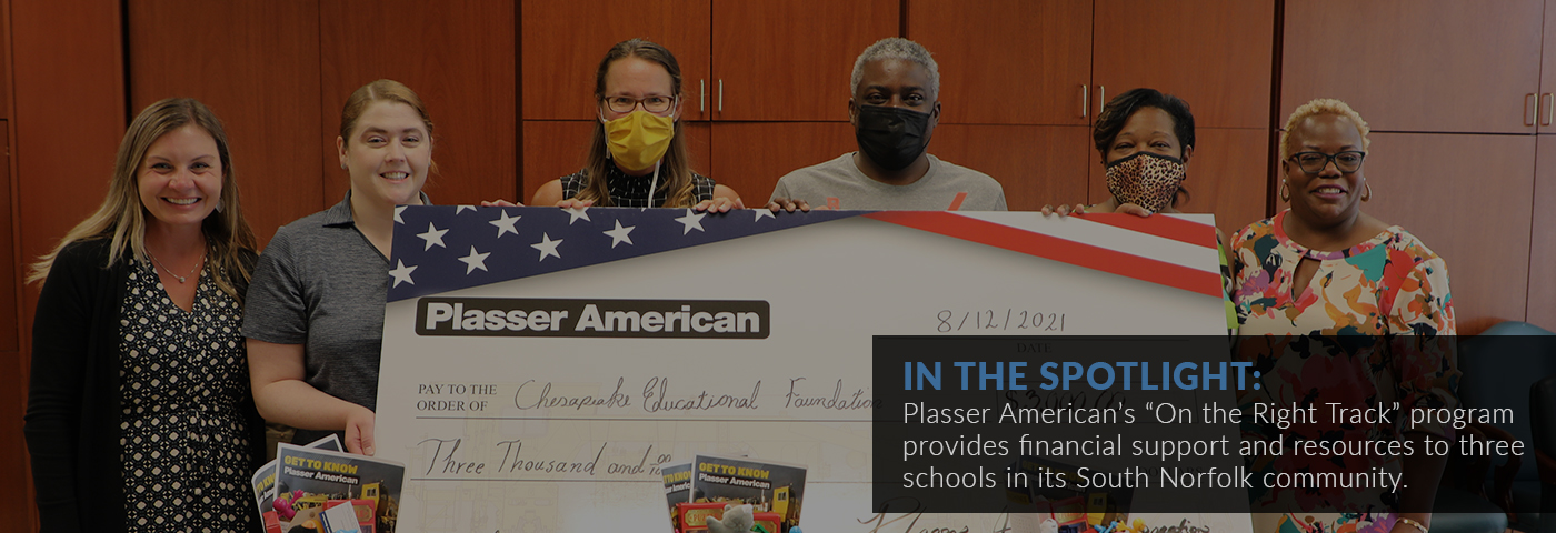 """In the spotlight: Plasser American's """"On the Right Track"""" program provides financial support and resources to three schools in its South Norfolk community."""